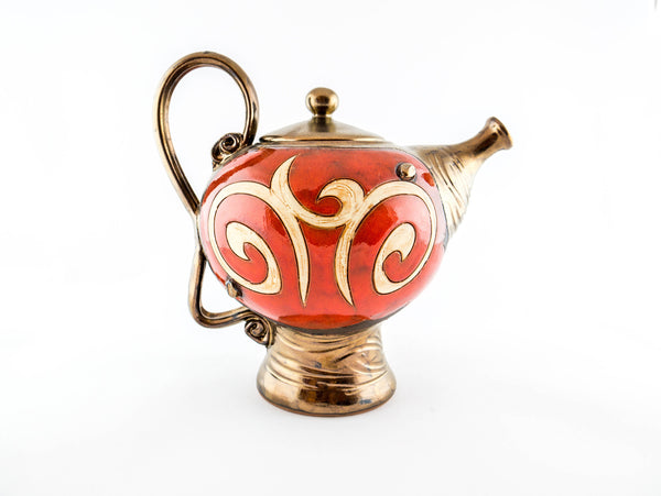 Orient Ceramic Teapot 50oz - Handmade Ceramics and pottery | Teapots, Coffee and Tea Mugs, Vases, Bowls, Plates, Ashtrays | Handmade stoneware - 4