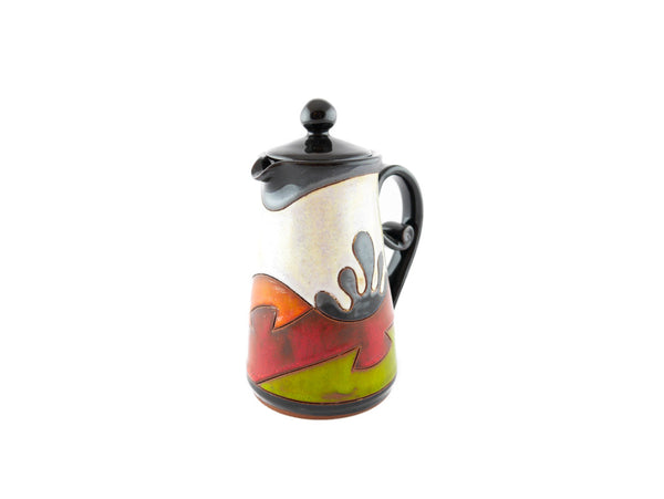 Ceramic Pitcher with Lid 8.5oz Ethno - Handmade Ceramics and pottery | Teapots, Coffee and Tea Mugs, Vases, Bowls, Plates, Ashtrays | Handmade stoneware - 3