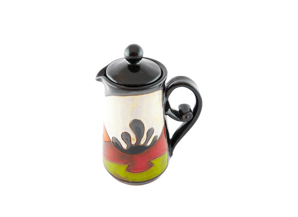 Ceramic Pitcher with Lid 8.5oz Ethno - Handmade Ceramics and pottery | Teapots, Coffee and Tea Mugs, Vases, Bowls, Plates, Ashtrays | Handmade stoneware - 5