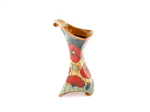 "Poppy Squire Vase 9.5"" - Handmade Ceramics and pottery 