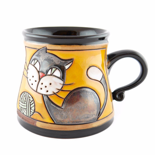 Handmade Pottery Animal Mug 12oz Cat Mug - Handmade Ceramics and pottery | Teapots, Coffee and Tea Mugs, Vases, Bowls, Plates, Ashtrays | Handmade stoneware - 1