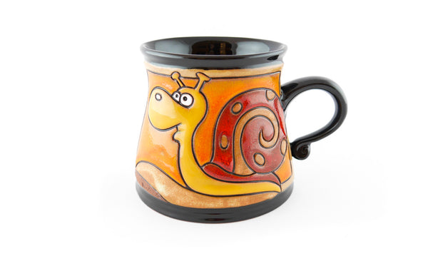 Handmade Pottery Animal Mug 12oz Snail Mug - Handmade Ceramics and pottery | Teapots, Coffee and Tea Mugs, Vases, Bowls, Plates, Ashtrays | Handmade stoneware - 1