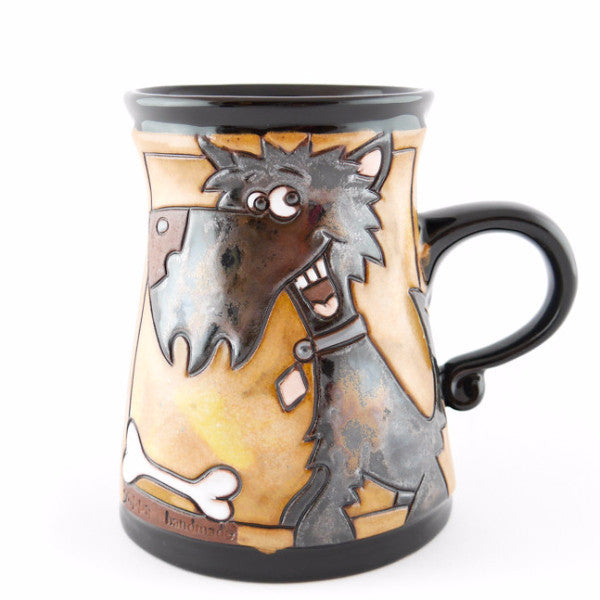 Handmade Pottery Animal Mug 12oz Dog Mug - Handmade Ceramics and pottery | Teapots, Coffee and Tea Mugs, Vases, Bowls, Plates, Ashtrays | Handmade stoneware - 1