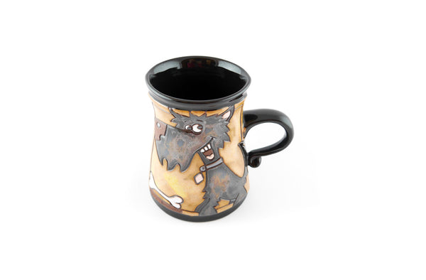 Handmade Pottery Animal Mug 12oz Dog Mug - Handmade Ceramics and pottery | Teapots, Coffee and Tea Mugs, Vases, Bowls, Plates, Ashtrays | Handmade stoneware - 2