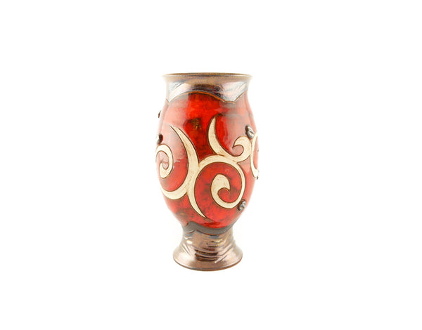 "Wheel Thrown Pottery Vase 8"" Orient Style - Handmade Ceramics and pottery 