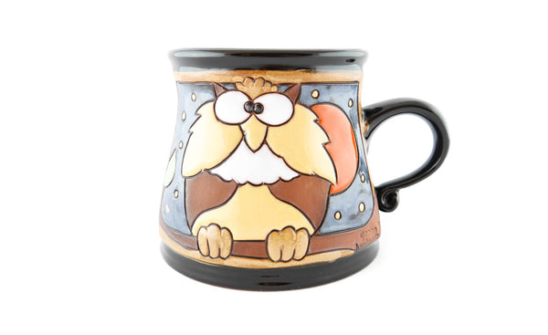 Handmade Pottery Animal Mug 12oz Owl Mug - Handmade Ceramics and pottery | Teapots, Coffee and Tea Mugs, Vases, Bowls, Plates, Ashtrays | Handmade stoneware - 1