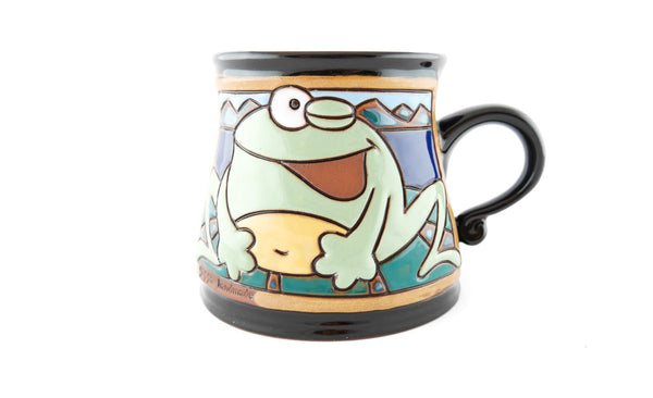 Handmade Pottery Animal Mug 12oz Frog Mug - Handmade Ceramics and pottery | Teapots, Coffee and Tea Mugs, Vases, Bowls, Plates, Ashtrays | Handmade stoneware - 1
