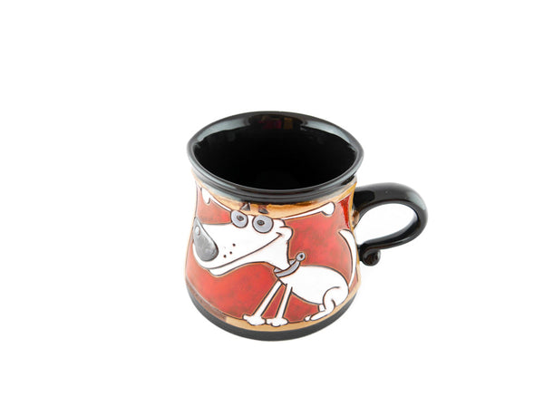 Handmade Pottery Animal Mug 12oz Dog Mug - Handmade Ceramics and pottery | Teapots, Coffee and Tea Mugs, Vases, Bowls, Plates, Ashtrays | Handmade stoneware - 4