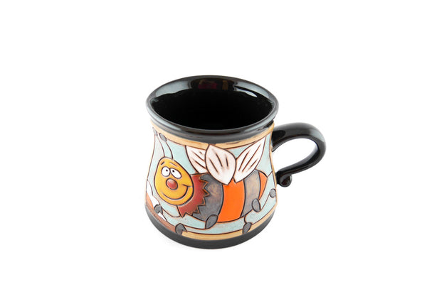 Handmade Pottery Animal Mug 12oz Flying Bee Mug - Handmade Ceramics and pottery | Teapots, Coffee and Tea Mugs, Vases, Bowls, Plates, Ashtrays | Handmade stoneware - 4