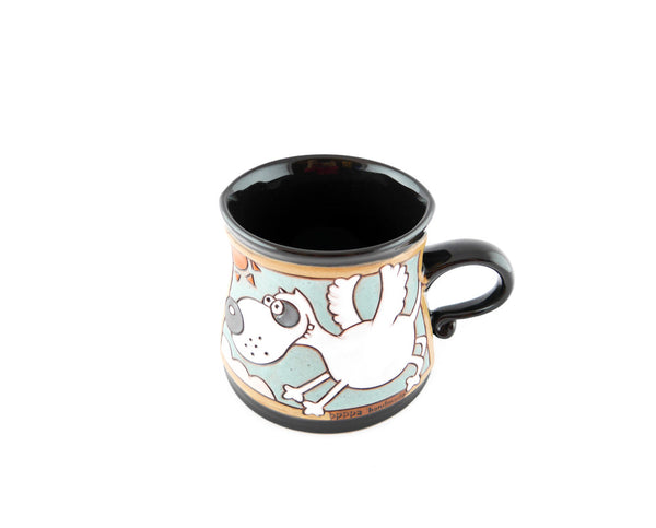 Handmade Pottery Animal Mug 12oz Flying Dog Mug - Handmade Ceramics and pottery | Teapots, Coffee and Tea Mugs, Vases, Bowls, Plates, Ashtrays | Handmade stoneware - 4