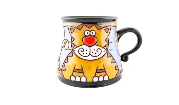 Handmade Pottery Animal Mug 12oz Tiger Mug - Handmade Ceramics and pottery | Teapots, Coffee and Tea Mugs, Vases, Bowls, Plates, Ashtrays | Handmade stoneware - 1