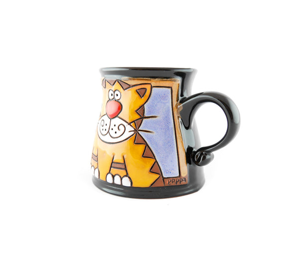 Handmade Pottery Animal Mug 12oz Tiger Mug - Handmade Ceramics and pottery | Teapots, Coffee and Tea Mugs, Vases, Bowls, Plates, Ashtrays | Handmade stoneware - 3