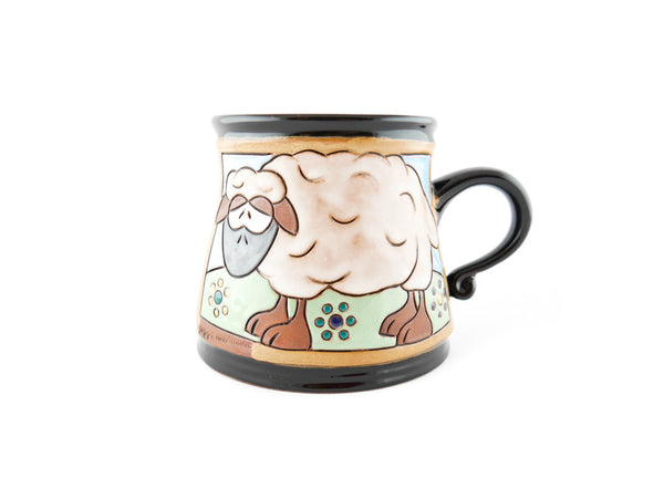 Handmade Pottery Animal Mug 12oz Sheep Mug - Handmade Ceramics and pottery | Teapots, Coffee and Tea Mugs, Vases, Bowls, Plates, Ashtrays | Handmade stoneware - 1