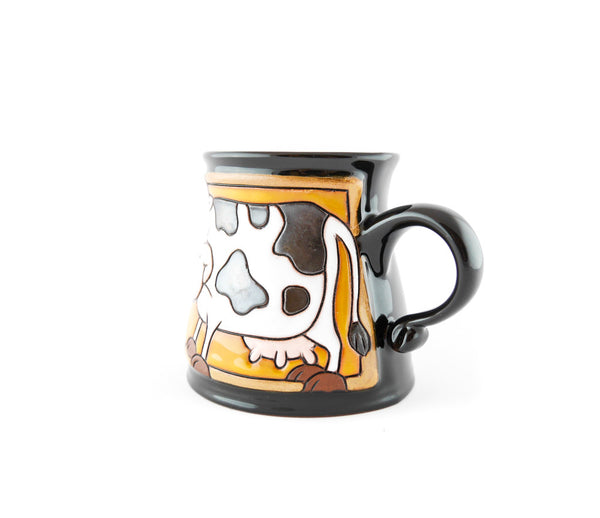 Handmade Pottery Animal Mug 12oz Eating Cow Mug - Handmade Ceramics and pottery | Teapots, Coffee and Tea Mugs, Vases, Bowls, Plates, Ashtrays | Handmade stoneware - 3