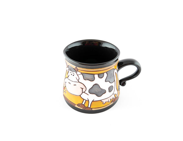 Handmade Pottery Animal Mug 12oz Eating Cow Mug - Handmade Ceramics and pottery | Teapots, Coffee and Tea Mugs, Vases, Bowls, Plates, Ashtrays | Handmade stoneware - 4