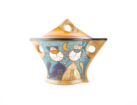 Lazy Cats Sugar Bowl with Lid - Handmade Ceramics and pottery | Teapots, Coffee and Tea Mugs, Vases, Bowls, Plates, Ashtrays | Handmade stoneware - 1