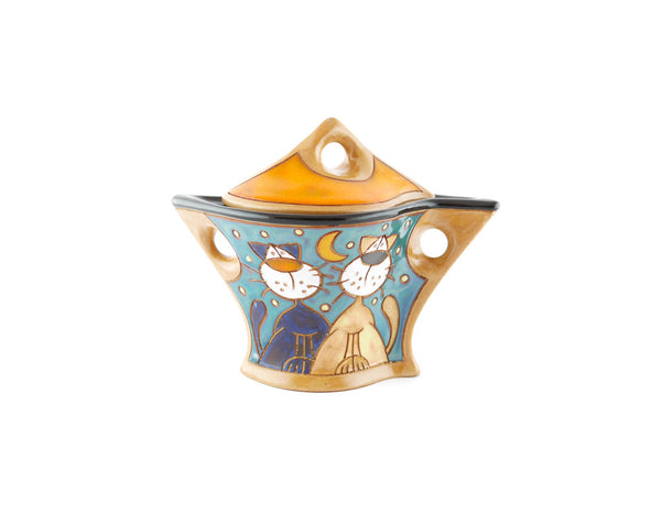 Lazy Cats Sugar Bowl with Lid - Handmade Ceramics and pottery | Teapots, Coffee and Tea Mugs, Vases, Bowls, Plates, Ashtrays | Handmade stoneware - 3
