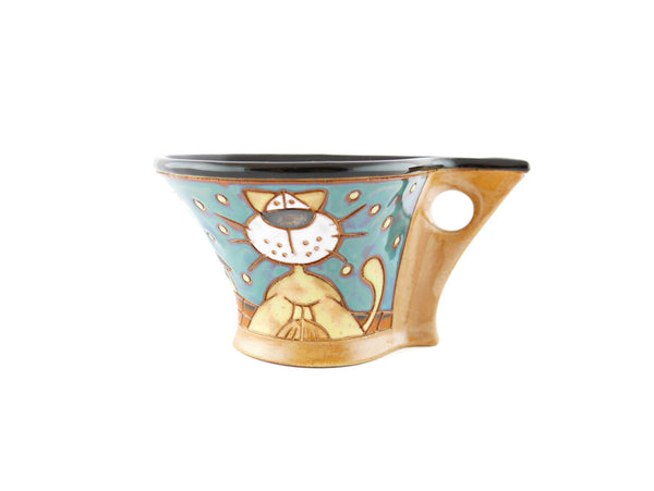 Handmade Pottery Espresso Cup 3.5oz Lazy Cats - Handmade Ceramics and pottery | Teapots, Coffee and Tea Mugs, Vases, Bowls, Plates, Ashtrays | Handmade stoneware - 1