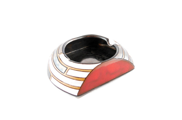 "Piano Red Ashtray 6"" - Handmade Ceramics and pottery 