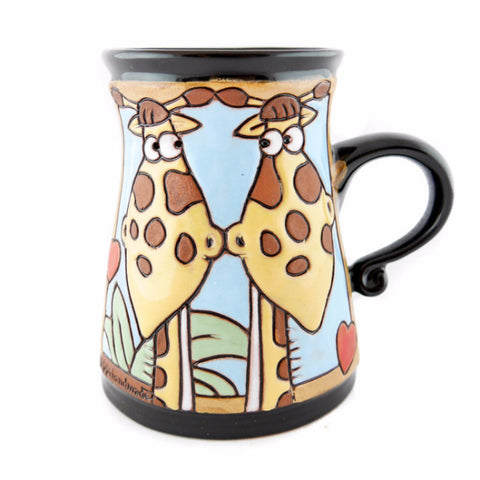 Handmade Pottery Animal Mug 11oz Giraffe Mug - Handmade Ceramics and pottery | Teapots, Coffee and Tea Mugs, Vases, Bowls, Plates, Ashtrays | Handmade stoneware - 1