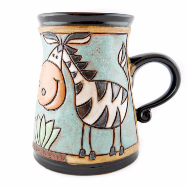 Handmade Pottery Animal Mug 11oz Zebra Mug - Handmade Ceramics and pottery | Teapots, Coffee and Tea Mugs, Vases, Bowls, Plates, Ashtrays | Handmade stoneware - 1