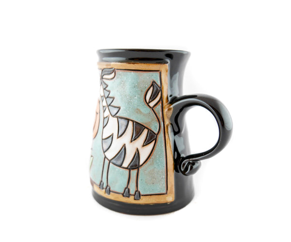 Handmade Pottery Animal Mug 11oz Zebra Mug - Handmade Ceramics and pottery | Teapots, Coffee and Tea Mugs, Vases, Bowls, Plates, Ashtrays | Handmade stoneware - 3