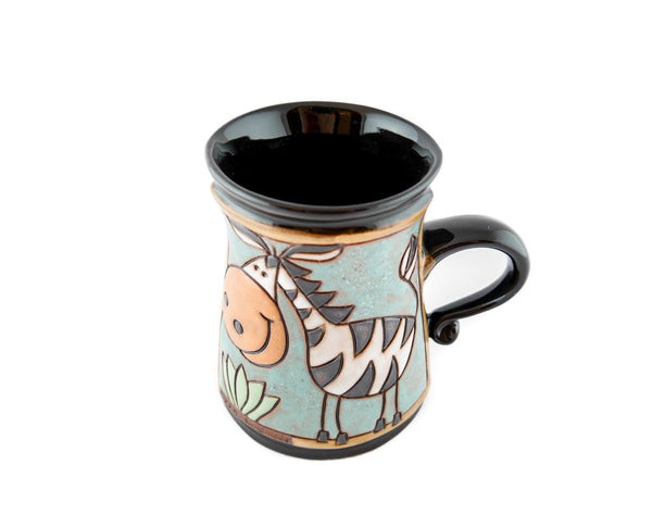 Handmade Pottery Animal Mug 11oz Zebra Mug - Handmade Ceramics and pottery | Teapots, Coffee and Tea Mugs, Vases, Bowls, Plates, Ashtrays | Handmade stoneware - 4