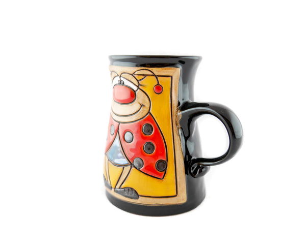 Handmade Pottery Animal Mug 11oz Lady Bug Mug - Handmade Ceramics and pottery | Teapots, Coffee and Tea Mugs, Vases, Bowls, Plates, Ashtrays | Handmade stoneware - 3