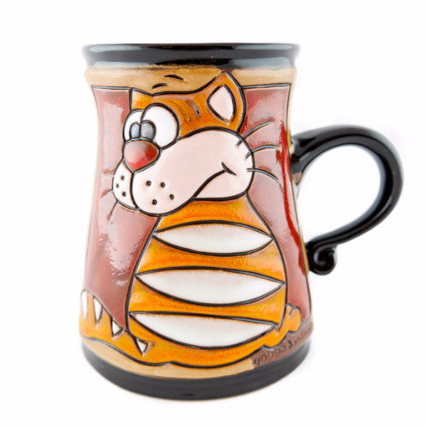 Handmade Pottery Animal Mug 11oz Garfield Mug - Handmade Ceramics and pottery | Teapots, Coffee and Tea Mugs, Vases, Bowls, Plates, Ashtrays | Handmade stoneware - 1