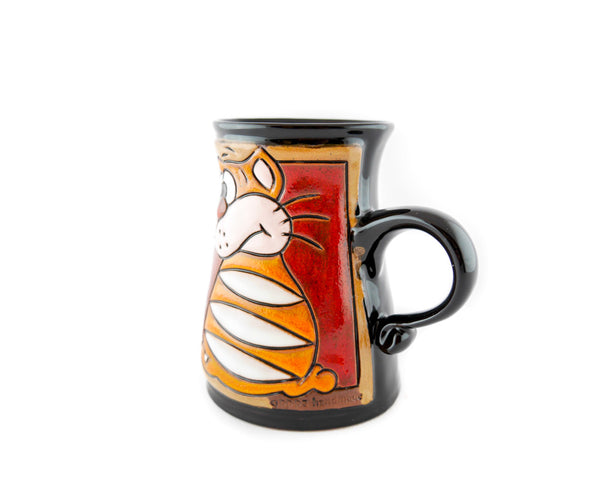 Handmade Pottery Animal Mug 11oz Garfield Mug - Handmade Ceramics and pottery | Teapots, Coffee and Tea Mugs, Vases, Bowls, Plates, Ashtrays | Handmade stoneware - 3