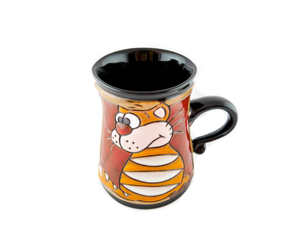 Handmade Pottery Animal Mug 11oz Garfield Mug - Handmade Ceramics and pottery | Teapots, Coffee and Tea Mugs, Vases, Bowls, Plates, Ashtrays | Handmade stoneware - 4