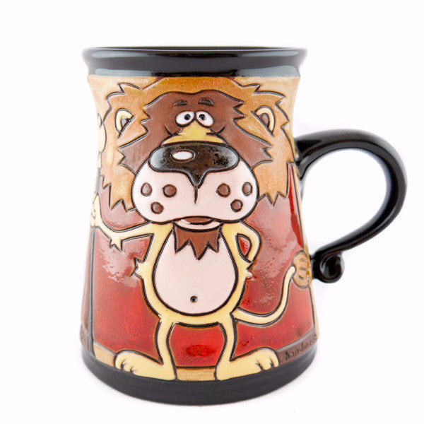 Handmade Pottery Animal Mug 11oz Lion King Mug - Handmade Ceramics and pottery | Teapots, Coffee and Tea Mugs, Vases, Bowls, Plates, Ashtrays | Handmade stoneware - 1