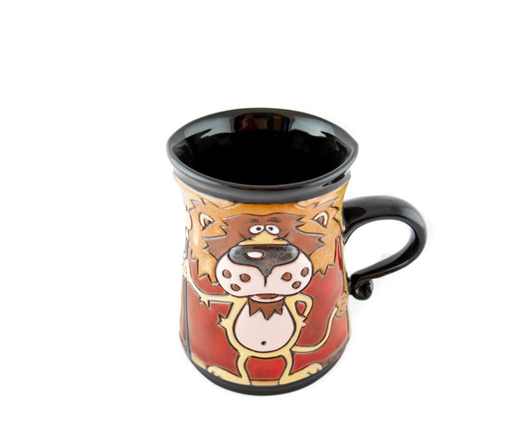 Handmade Pottery Animal Mug 11oz Lion King Mug - Handmade Ceramics and pottery | Teapots, Coffee and Tea Mugs, Vases, Bowls, Plates, Ashtrays | Handmade stoneware - 4
