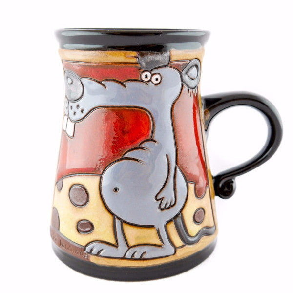 Handmade Pottery Animal Mug 11oz Mouse Mug - Handmade Ceramics and pottery | Teapots, Coffee and Tea Mugs, Vases, Bowls, Plates, Ashtrays | Handmade stoneware - 1