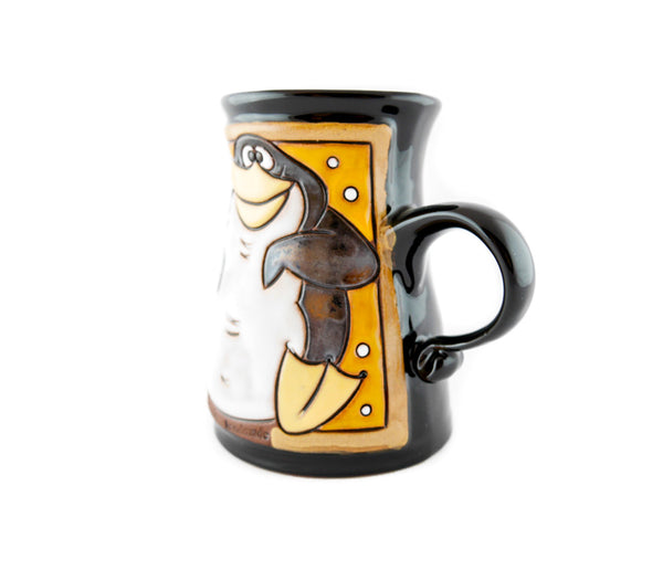 Handmade Pottery Animal Mug 11oz Penguin Mug - Handmade Ceramics and pottery | Teapots, Coffee and Tea Mugs, Vases, Bowls, Plates, Ashtrays | Handmade stoneware - 3