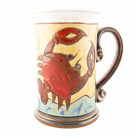 Cancer Zodiac Mug - Handmade Ceramics and pottery | Teapots, Coffee and Tea Mugs, Vases, Bowls, Plates, Ashtrays | Handmade stoneware - 1