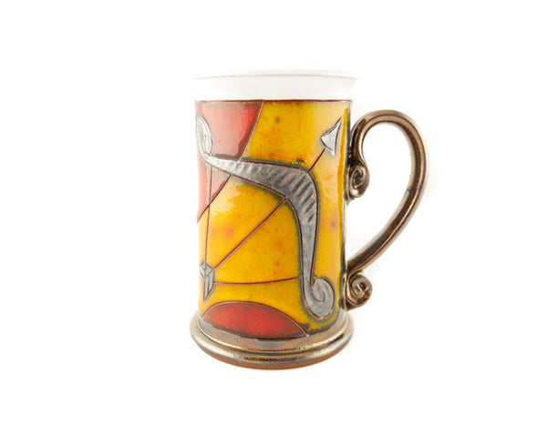 Sagittarius Zodiac Mug - Handmade Ceramics and pottery | Teapots, Coffee and Tea Mugs, Vases, Bowls, Plates, Ashtrays | Handmade stoneware - 1