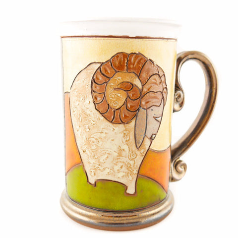 Aries Zodiac Mug - Handmade Ceramics and pottery | Teapots, Coffee and Tea Mugs, Vases, Bowls, Plates, Ashtrays | Handmade stoneware - 1