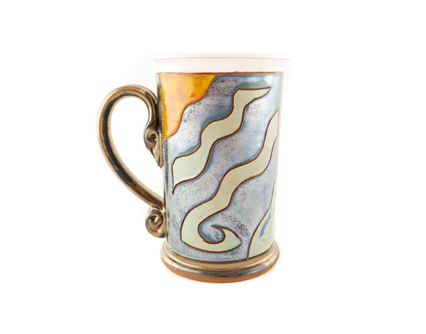 Aquarius Zodiac Mug - Handmade Ceramics and pottery | Teapots, Coffee and Tea Mugs, Vases, Bowls, Plates, Ashtrays | Handmade stoneware - 2