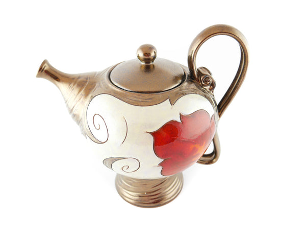 Pearl Ceramic Teapot 50oz - Handmade Ceramics and pottery | Teapots, Coffee and Tea Mugs, Vases, Bowls, Plates, Ashtrays | Handmade stoneware - 2