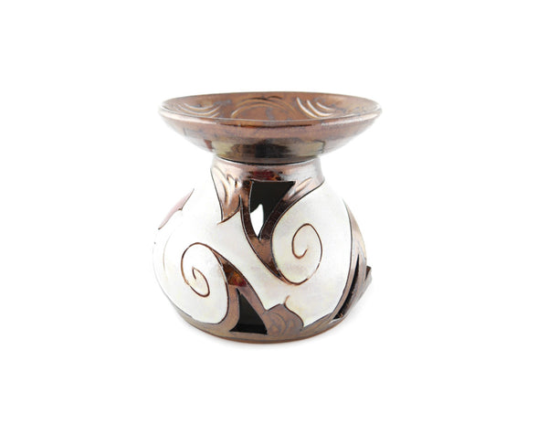 Ceramic Essential Oil Burner - Pearl - Handmade Ceramics and pottery | Teapots, Coffee and Tea Mugs, Vases, Bowls, Plates, Ashtrays | Handmade stoneware - 2