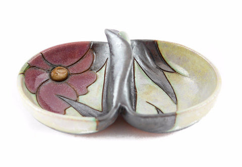 "HANDMADE CERAMIC SALT CELLAR 5.5"" Flower - Handmade Ceramics and pottery 