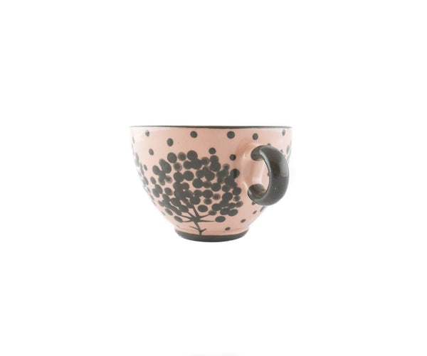 Handmade Pottery Coffee Mug 6.7oz with Tree Yin and Yang - Handmade Ceramics and pottery | Teapots, Coffee and Tea Mugs, Vases, Bowls, Plates, Ashtrays | Handmade stoneware - 3