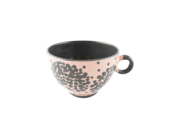 Handmade Pottery Coffee Mug 6.7oz with Tree Yin and Yang - Handmade Ceramics and pottery | Teapots, Coffee and Tea Mugs, Vases, Bowls, Plates, Ashtrays | Handmade stoneware - 6