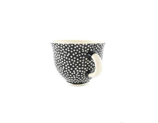 Handmade Pottery Coffee Mug 6.7oz With Dots Yin and Yang - Handmade Ceramics and pottery | Teapots, Coffee and Tea Mugs, Vases, Bowls, Plates, Ashtrays | Handmade stoneware - 2