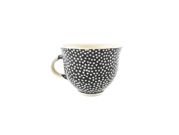 Handmade Pottery Coffee Mug 6.7oz With Dots Yin and Yang - Handmade Ceramics and pottery | Teapots, Coffee and Tea Mugs, Vases, Bowls, Plates, Ashtrays | Handmade stoneware - 4