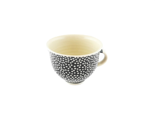 Handmade Pottery Coffee Mug 6.7oz With Dots Yin and Yang - Handmade Ceramics and pottery | Teapots, Coffee and Tea Mugs, Vases, Bowls, Plates, Ashtrays | Handmade stoneware - 5