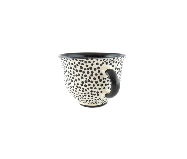 Handmade Pottery Coffee Mug 6.7oz with dots and Yin and Yang. - Handmade Ceramics and pottery | Teapots, Coffee and Tea Mugs, Vases, Bowls, Plates, Ashtrays | Handmade stoneware - 3