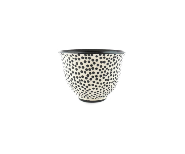 Handmade Pottery Coffee Mug 6.7oz with dots and Yin and Yang. - Handmade Ceramics and pottery | Teapots, Coffee and Tea Mugs, Vases, Bowls, Plates, Ashtrays | Handmade stoneware - 4