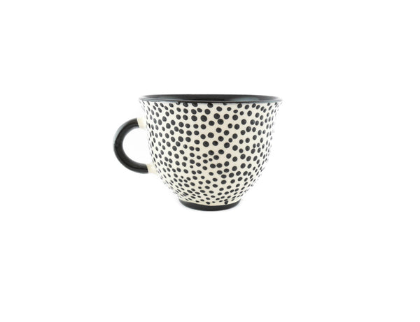 Handmade Pottery Coffee Mug 6.7oz with dots and Yin and Yang. - Handmade Ceramics and pottery | Teapots, Coffee and Tea Mugs, Vases, Bowls, Plates, Ashtrays | Handmade stoneware - 5